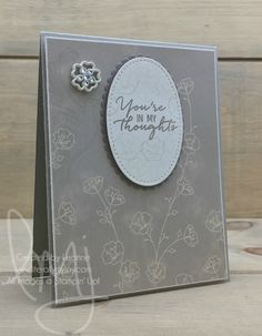 Dove Thoughts | Stampin\' Up! | Falling for You | Strength & Prayers #literallymyjoy #sympathy #prayers #thoughts #thinkingofyou #tiptoptaupe #dove #flowers #2017OccasionsCatalog #20162017AnnualCatalog