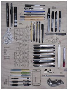 An infographic depicting the tools you would find at any given moment in my bag displayed as analog vs. digital.