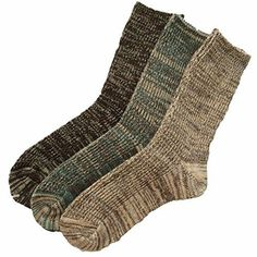 Lian LifeStyle Men's 3 Pairs Pack Wool Socks Assorted Mixed Color Size 8-11 Men's Clothing Combat Boots Socks, Rain Boot Socks, Socks For Flats, Thigh High Leg Warmers, Thigh High Tights, Thigh High Socks, Black High Boots, Black Socks, Womens Wool Socks