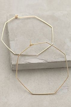 Anthropologie Hexagon Hoops #anthrofav