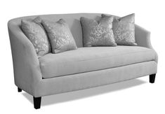 "Kendall Sofa If you need a living room space to look bigger, an armless sofa can help. The Kendall measures 74"" wide, on the shorter end for sofas and fits nicely in a smaller living room."