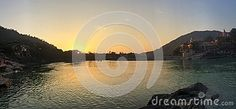 Photo about A beautiful sunset reflects in the Himalayan currents of the Ganga river in Lakshman Jhula Rishikesh. Image of river, golden, beautiful - 83427089 Rishikesh, Sunrises, Himalayan, Beautiful Sunset, Around The Worlds, River, Outdoor, Image, Outdoors