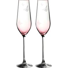 ROYAL ALBERT Miranda Kerr set of two champagne flutes 230ml ($38) ❤ liked on Polyvore featuring home, kitchen & dining, drinkware and royal albert