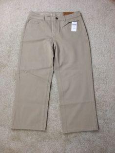 Coldwater-Creek-Natural-BiStretch-Crop-Pants-Beige-Size-4-MSRP-60-C1-19