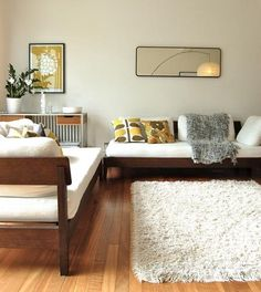 THOSE COUCHES - Wooden frames made and then get the cushions custom made too