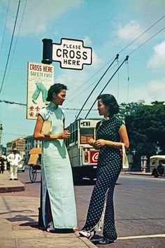 Life is like a crossroad, it carries you on regardless. You might as well enjoy the view and seize every opportunity while you are passing. Otherwise, it'll be too late! History Of Singapore, Singapore Photos, Lee Movie, Chinese Style, Chinese Fashion, Fashion Project, Woman Standing, Cheongsam, Photo Library
