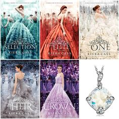 With Love for Books: The Selection by Kiera Cass Books Set & Sterling S...