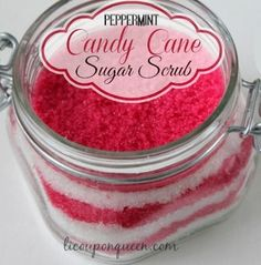 candy cane scrub #diy #christmas #frugal