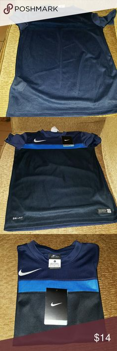 Boys Nike Dri-fit Shirt Blue Mesh Nike Shirts & Tops Tees - Short Sleeve