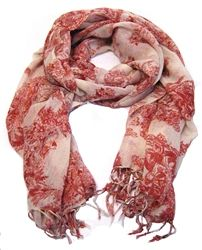 Red toile scarf US$48.54