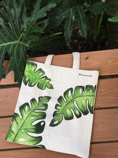 The Botanical Collection - Monstera Tote bags available @ etsy shop Link in bio Han painted, Reusable Tote bag Origami Ball, Diy Origami, Tod Bag, Painted Canvas Bags, Canvas Tote Bags, Diy Tote Bag, Canvas Designs, Fabric Bags, Woven Fabric