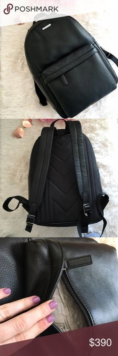 """NWT Michael Kors """"Stephen"""" Black Leather Backpack NWT Michael Kors black leather backpack. MSRP is $498. Please ask any and all questions  Michael Kors Bags Backpacks"""