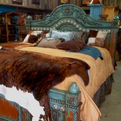 Sweet Dreams  Aqua bed..western feel...
