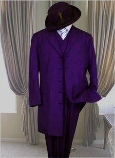 Classic Long Dark Purple Fashion 1940s mens Zoot Suit $499.00 AT vintagedancer.com
