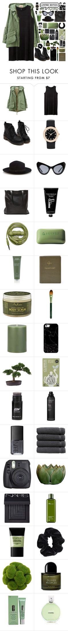 """""""all we did was care for each other"""" by valismyname on Polyvore featuring Monki, Marc by Marc Jacobs, Warehouse, UNIF, TokyoMilk, Urbanears, Borghese, Aveda, FOSSIL and SheaMoisture"""