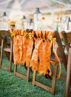Used at a wedding but I think also for Thanksgiving.....inside or outside for extra seating weather permitting.