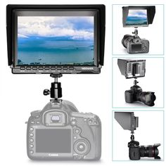 Amazon.com : Neewer NW759(C) 7 inches 1280x800 IPS Screen Field Monitor with HDMI Cable for BMPCC AV Cable for FPV, Adjustable Display Ratio Work with lp-e6 for Sony Canon Nikon  Price:$129.99