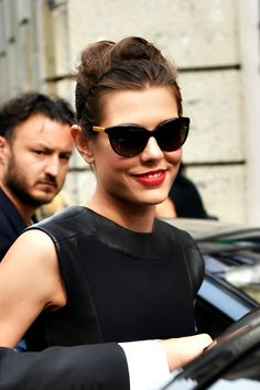 beautifulcharlotte: Charlotte Casiraghi arrived at Gucci SS 2015 show in Milan, Italy, September 17, 2014