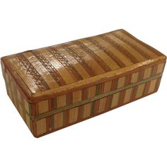 Antique Straw Work Patch Box from Antiques of River Oaks on Ruby Lane $495 - Questions Call: 713-961-3333