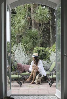 Guest in Villa Le Scale's literary garden Capri, Italy  PHOTO Robyn Lea for issue #7