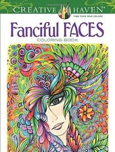Fanciful Face coloring book