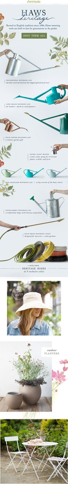 #Haws heritage #watering cans at #shopterrain August 5