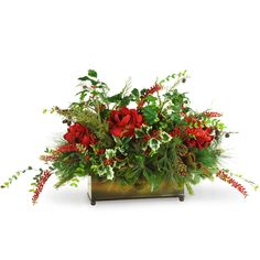 Holiday Foliage Centerpiece 3 Feet Long  $188