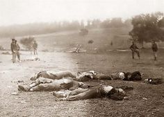 Federal dead on the field of battle of first day, Gettysburg