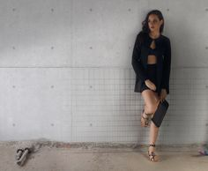 S/S 2015 Campaign. Industrial Beauty. Amazon Black Sandal. #studded #sandals #2015shoes