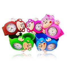 Infantil Macaco Round Dial Silicone Banda Quartz Analógico Moda Watch (Random Style) – BRL R$ 28,41