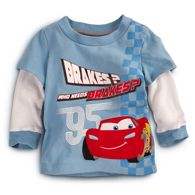 Double-Up Long Sleeve Cars Tee for Baby