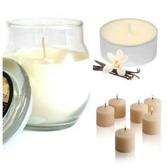 #Vanilla #ScentedCandles Collection. Glass #jarcandle, #scentedvotivecandles. #scentedtealights. #homefragrance.
