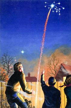 A Ladybird 'Achievements' Book: Exploring Space: Fireworks and Weapons Bonfire Night Guy Fawkes, Guy Fawkes Night, Bonfire Night Photos, Vintage Fireworks, Fire Works, Ladybird Books, Vintage Books, Bon Fire, Vintage Paintings