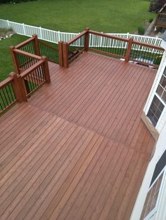 SW 3542 Charwood Semi-Transparent SuperDeck - over our worn grey ...
