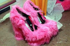 furry shoes!!