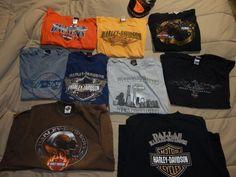 Lot of 9 Genuine Harley Davidson T Shirts Collectible Size XLarge Men's 2 Caps | eBay