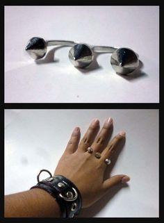 Anillo spike, disponible en Monina accesorios https://www.facebook.com/Monina.store
