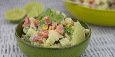 Mexicaanse aardappelsalade, leuke variant op de traditionele aardappelsalade.