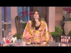 Ellen Degenere's puts makeup on Sofia Vergara. Really funny!