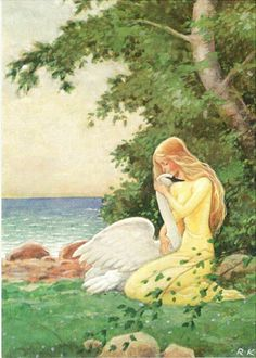 The Wild Swans -- Rudolf Koivu -- Fairytale Illustration