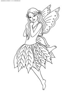 Free Printable Fairy Coloring Pages For Kids | Coloring Therapy ...
