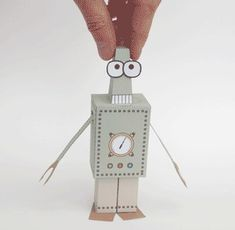 Paperbot - Paper Robot to Print Out and Make: 14 Steps (with Pictures) Paper Robot, Cardboard Robot, Paper Toys, Paper Crafts Origami, Paper Crafts For Kids, Robots For Kids, Craft Free, Christmas Makes, Printable Paper