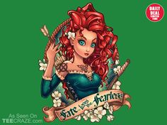 Fate Loves The Fearless T-Shirt - http://teecraze.com/daily-deal-4/ - Designed by TimShumate #tshirt #tee #art #fashion