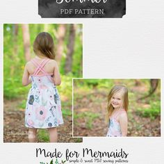 This is a PDF pattern for instant download for this beautiful dress. THIS IS NOT A FINISHED GARMENT, it is for the pattern that show you and teach you step by step how to sew Sommer comes in sizes 1/2 to 14. The knit tank-style bodice includes two lengths- empire and natural waist. The bodice is finished with knit bindings with optional neckline ruffle or bodice ruffle. You can choose single or double straps. There are three skirt lengths- tunic, dress and maxi. All skirts can be made f...