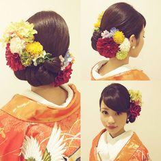 Up Styles, Hair Styles, Wedding Ideas Board, Wedding Kimono, Hula Dancers, Hair Arrange, Japanese Hairstyle, Japanese Characters, Tropical Colors