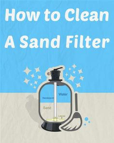 How to Clean Every Type of Pool Filter Do you own a with your swimming pool? If so, you should give it a good cleaning at least twice a year. Here are some tips and DIY tricks on how to clean a pool sand filter. Pool Cleaning Tips, Cleaning Hacks, Living Pool, Swimming Pool Maintenance, Pool Sand, Sand Filter For Pool, Pool Hacks, Diy Pool, Gardens