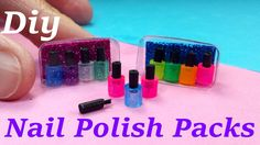 DIY Miniature Nail Polish Packs With or W/out Brush!