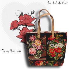 #Handbag #purse #needlepoint  LeShoPdeMoZ sur Etsy