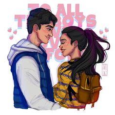 Peter and Lara Jean - Fanart 💖💖 Lara Jean, I Still Love You, I Fall In Love, My Love, Love Movie, Movie Tv, Love Is Scary, Peter K, Theme Harry Potter