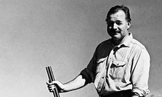Ernest Hemingway, author of THE SUN ALSO RISES